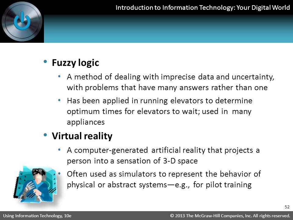 Fuzzy logic Virtual reality