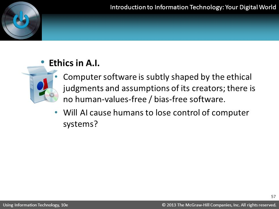 Ethics in A.I.