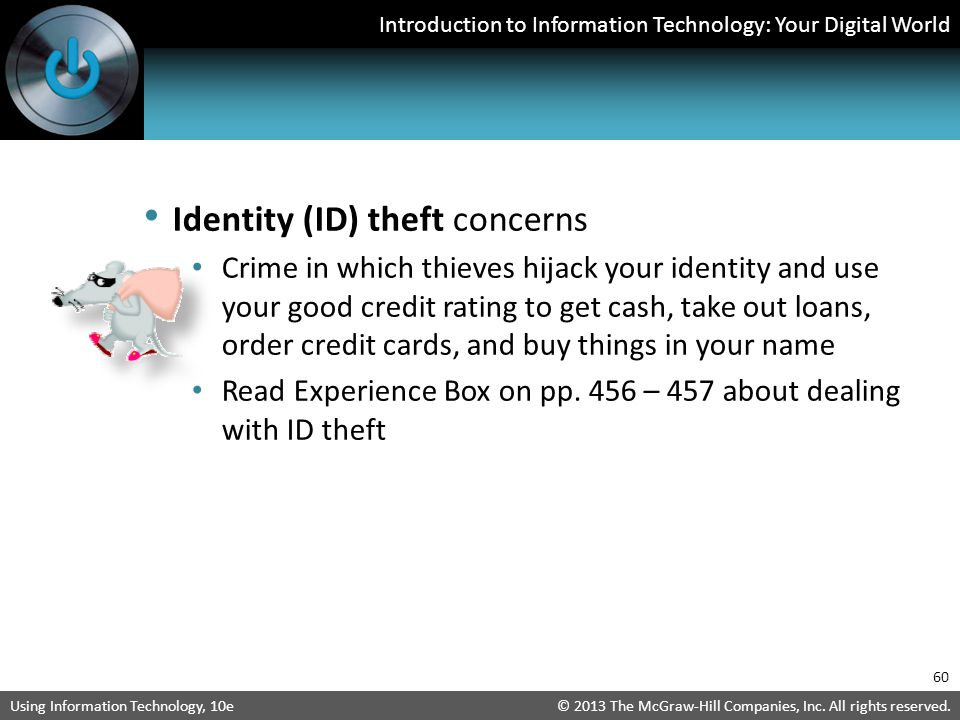 Identity (ID) theft concerns
