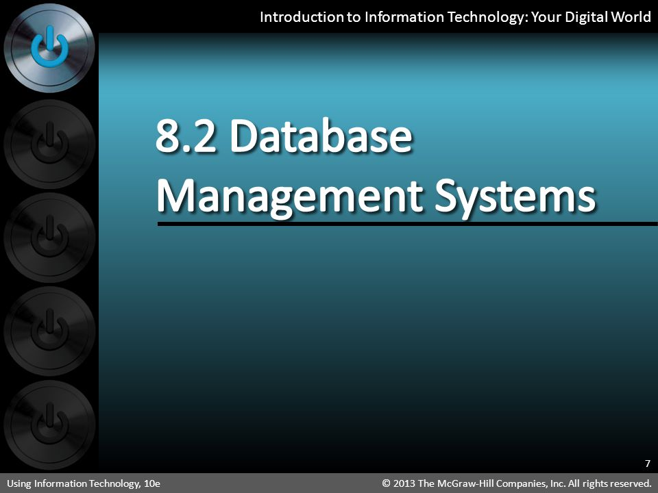 8.2 Database Management Systems