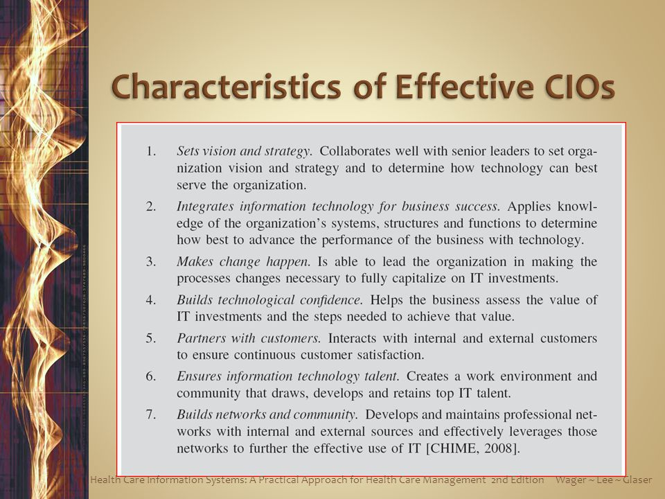 Characteristics of Effective CIOs