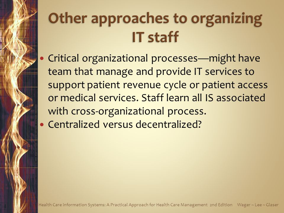 Other approaches to organizing IT staff
