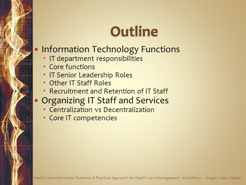 Outline Information Technology Functions