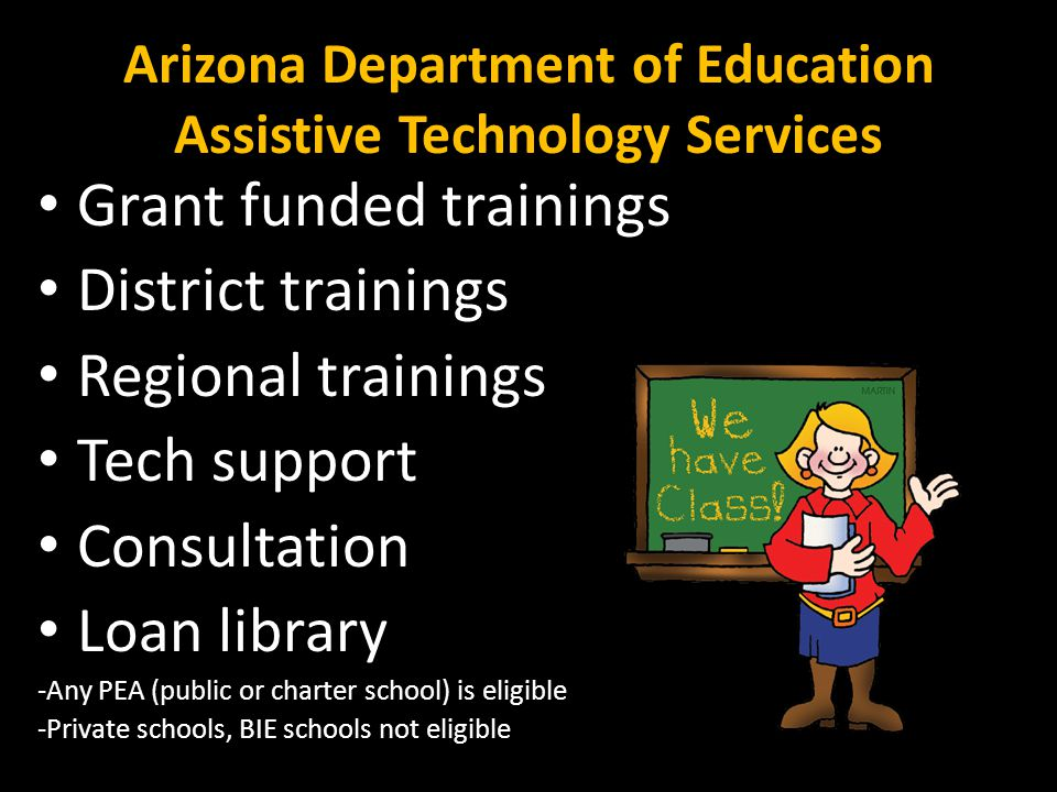 Arizona Department of Education Assistive Technology Services