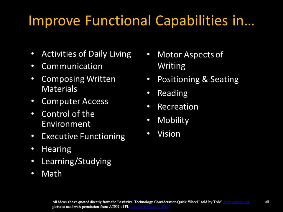 Improve Functional Capabilities in…