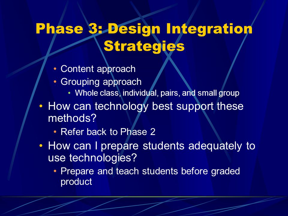 Phase 3: Design Integration Strategies