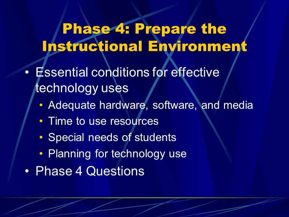 Phase 4: Prepare the Instructional Environment