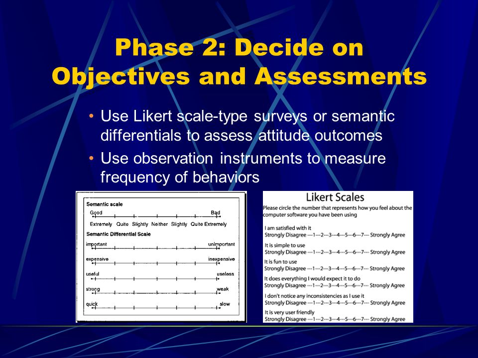 Phase 2: Decide on Objectives and Assessments