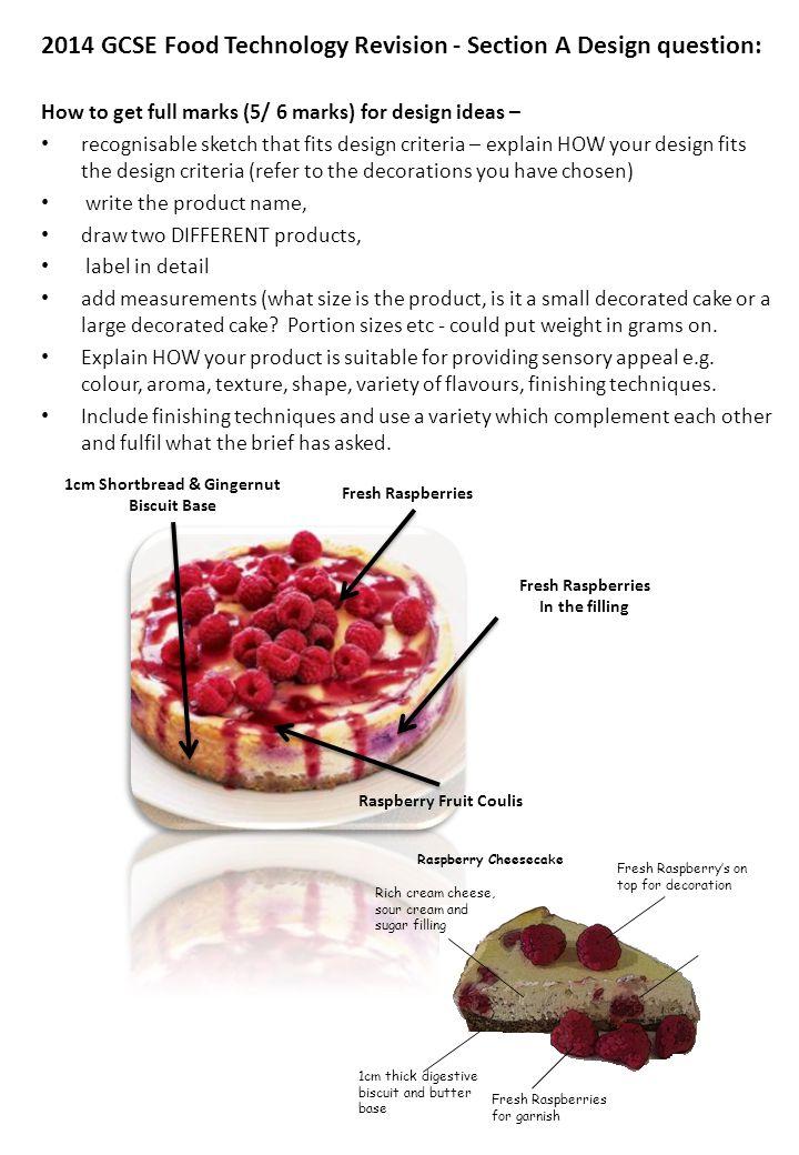 Food technology gcse revision ppt video online download 4 1cm shortbread gingernut 2014 gcse food technology forumfinder Images