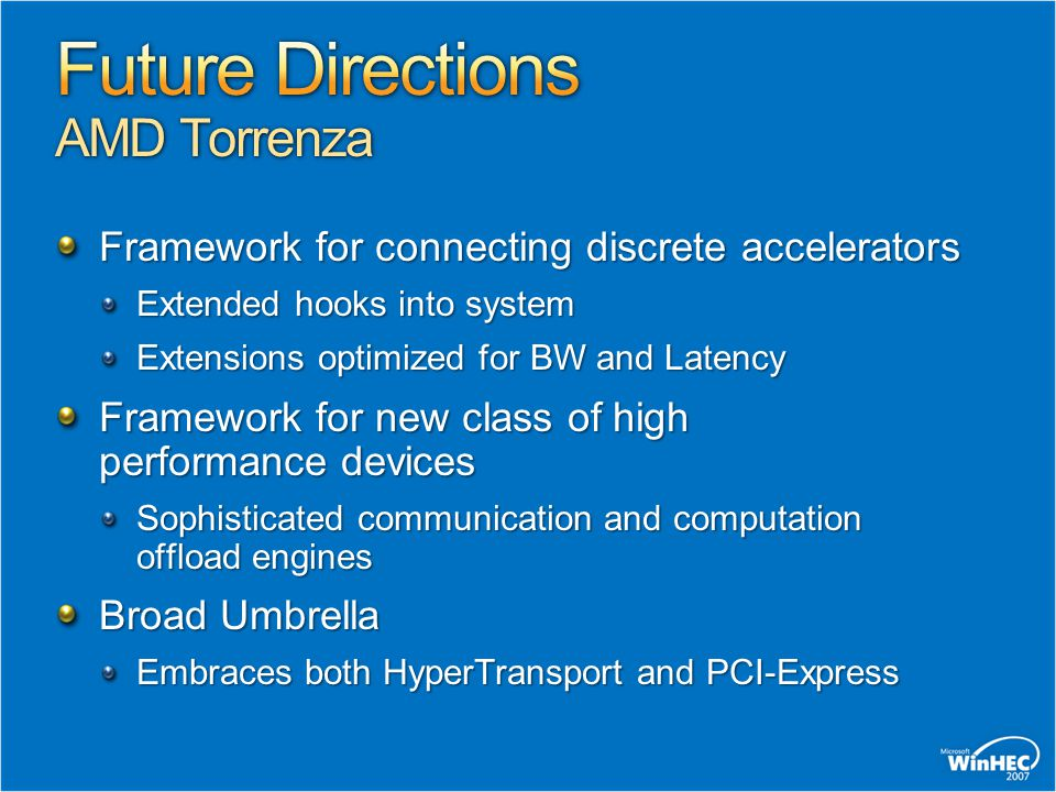 Future Directions AMD Torrenza