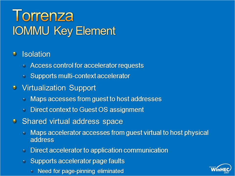 Torrenza IOMMU Key Element