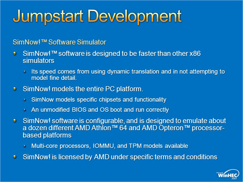 Jumpstart Development