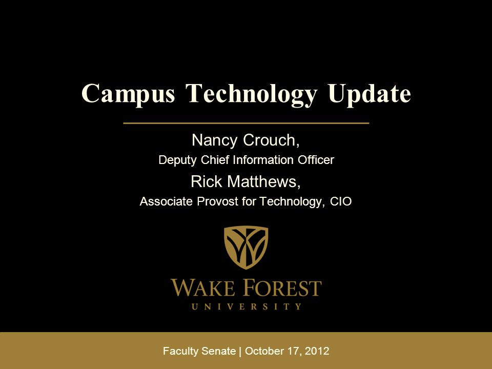 Campus Technology Update