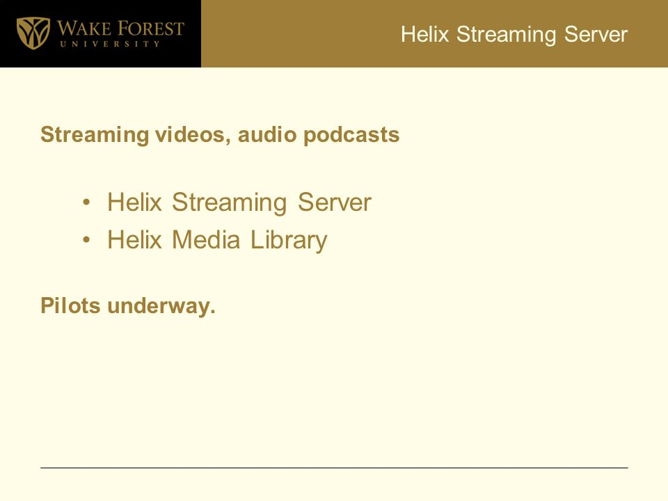 Helix Streaming Server