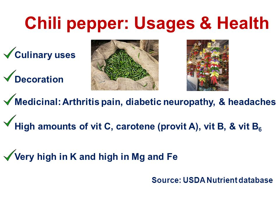 Chili pepper: Usages & Health