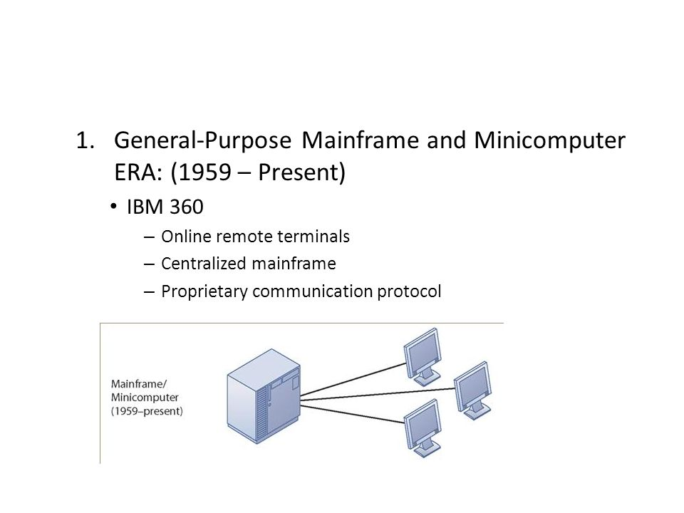 General-Purpose Mainframe and Minicomputer ERA: (1959 – Present)