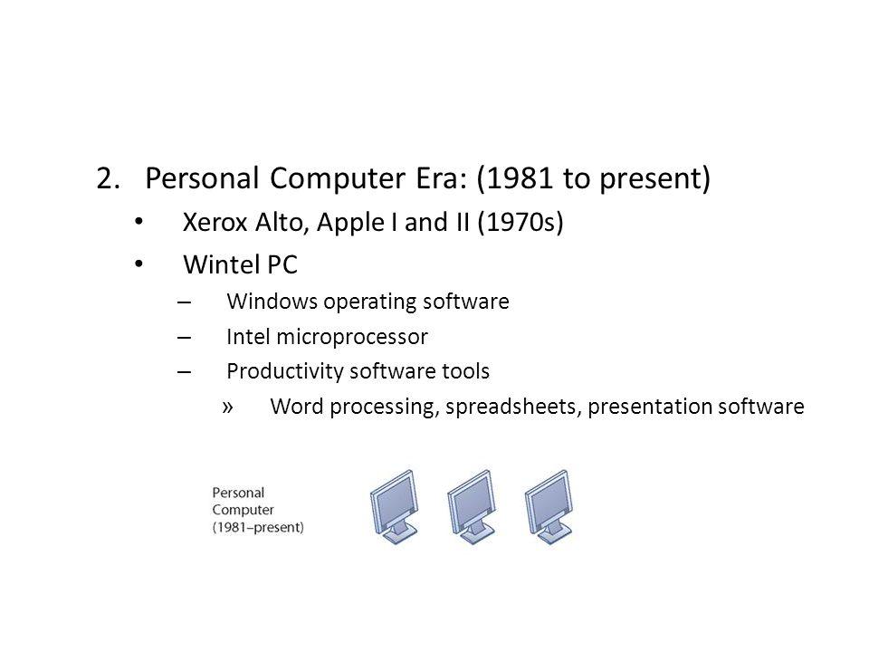 Personal Computer Era: (1981 to present)