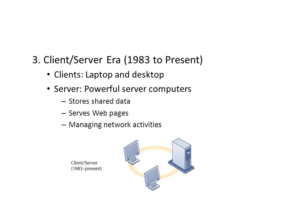 3. Client/Server Era (1983 to Present)
