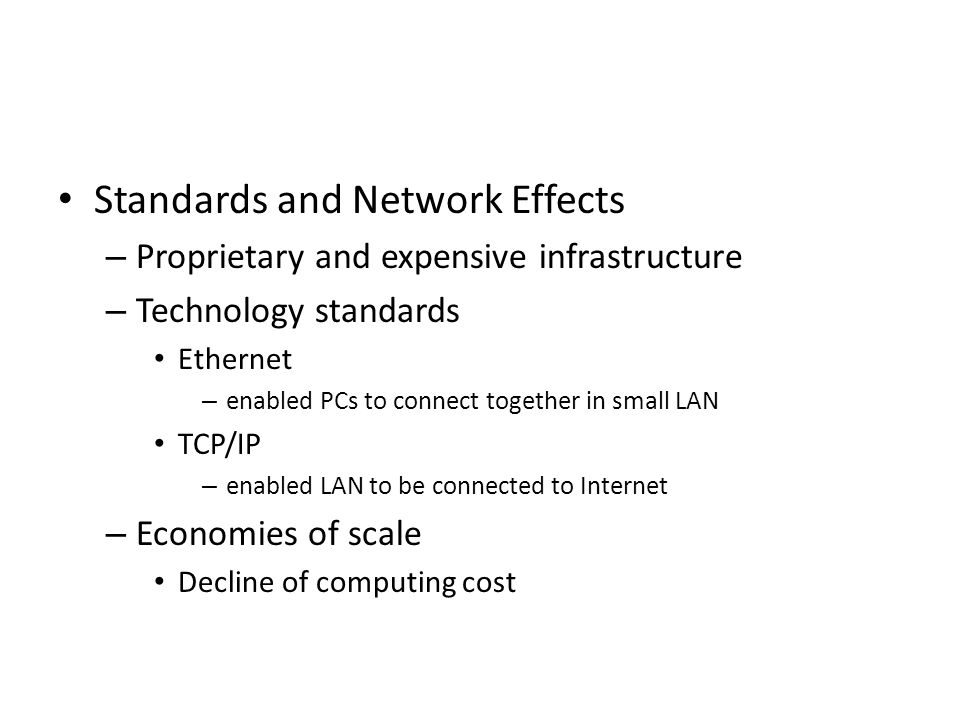 Standards and Network Effects