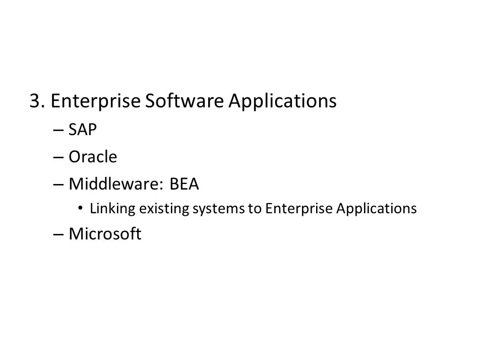 3. Enterprise Software Applications