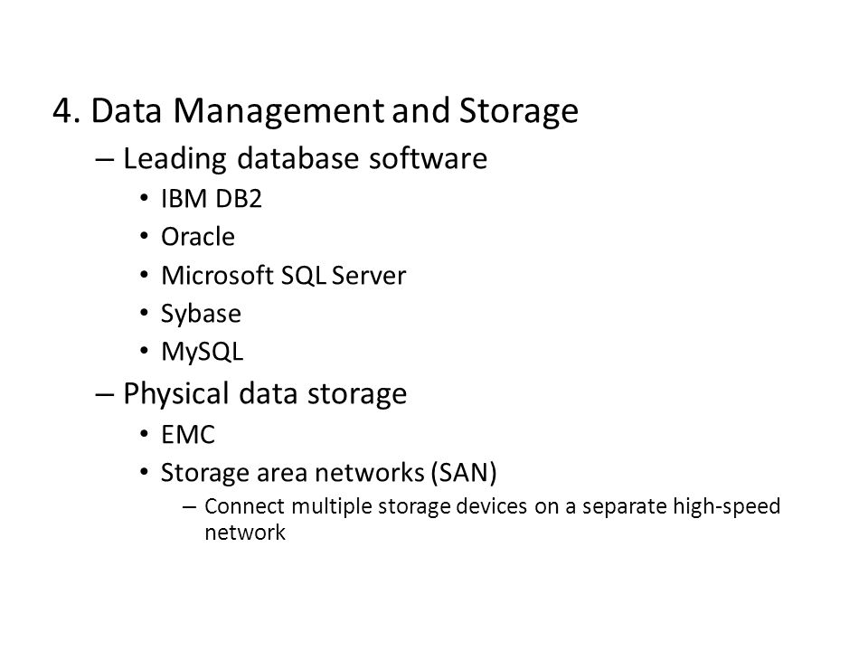 4. Data Management and Storage
