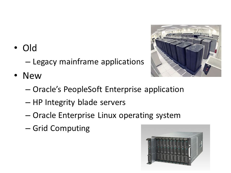 Old New Legacy mainframe applications