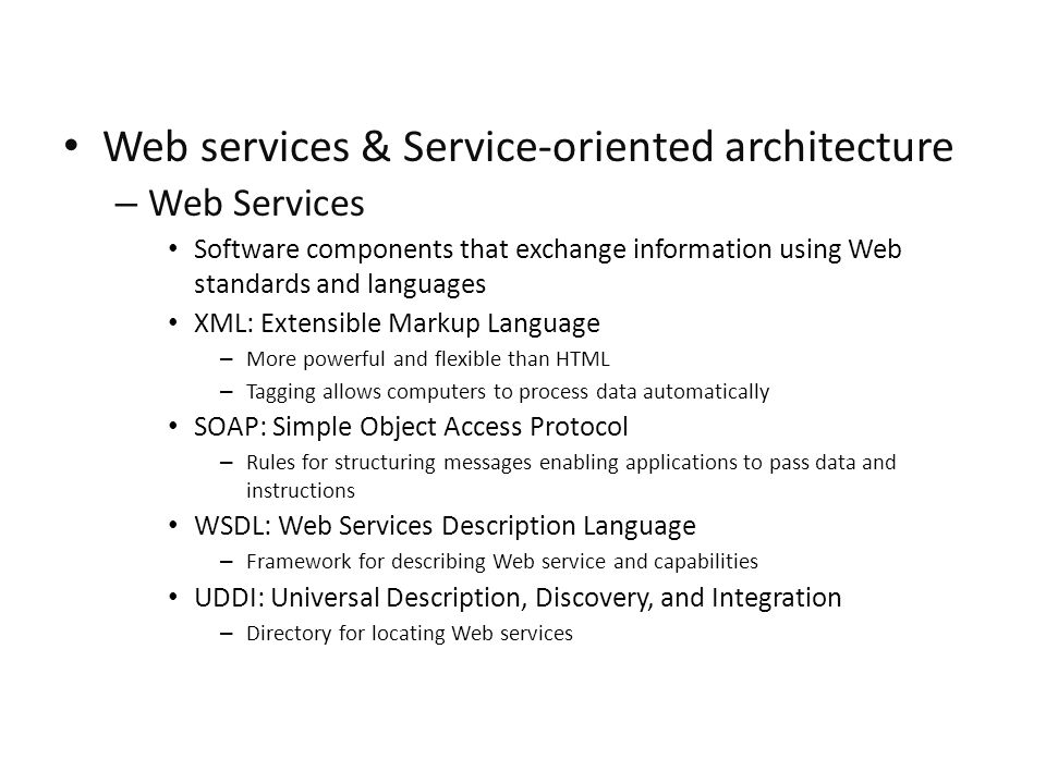 Web services & Service-oriented architecture