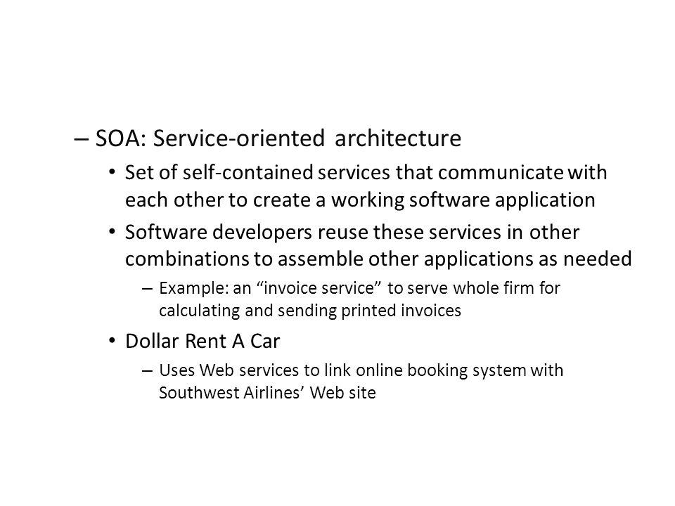 SOA: Service-oriented architecture
