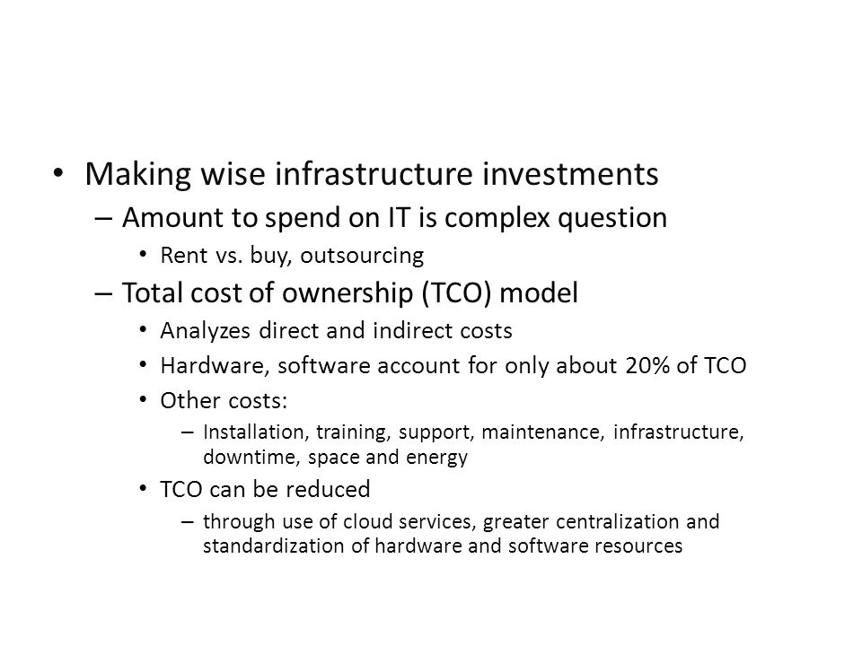 Making wise infrastructure investments