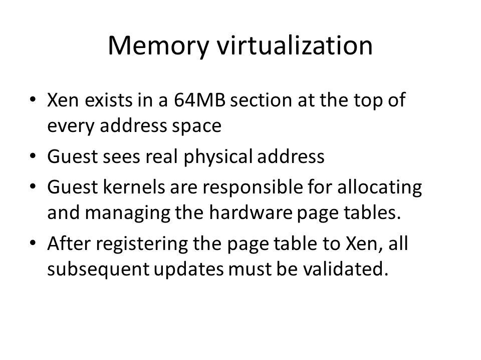 Memory virtualization