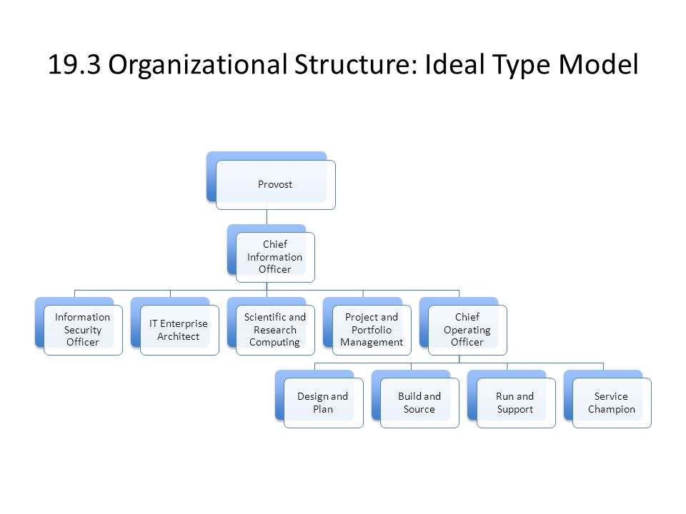 19.3 Organizational Structure: Ideal Type Model