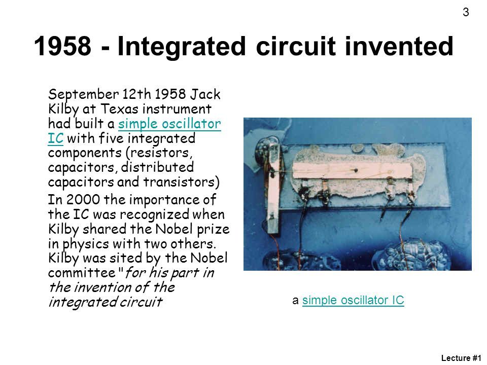Integrated circuit invented