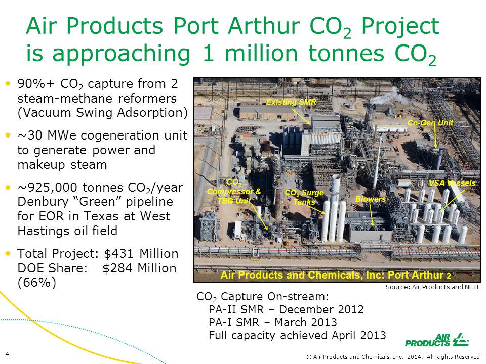 Air Products Port Arthur CO2 Project is approaching 1 million tonnes CO2