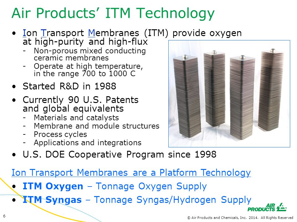 Air Products' ITM Technology