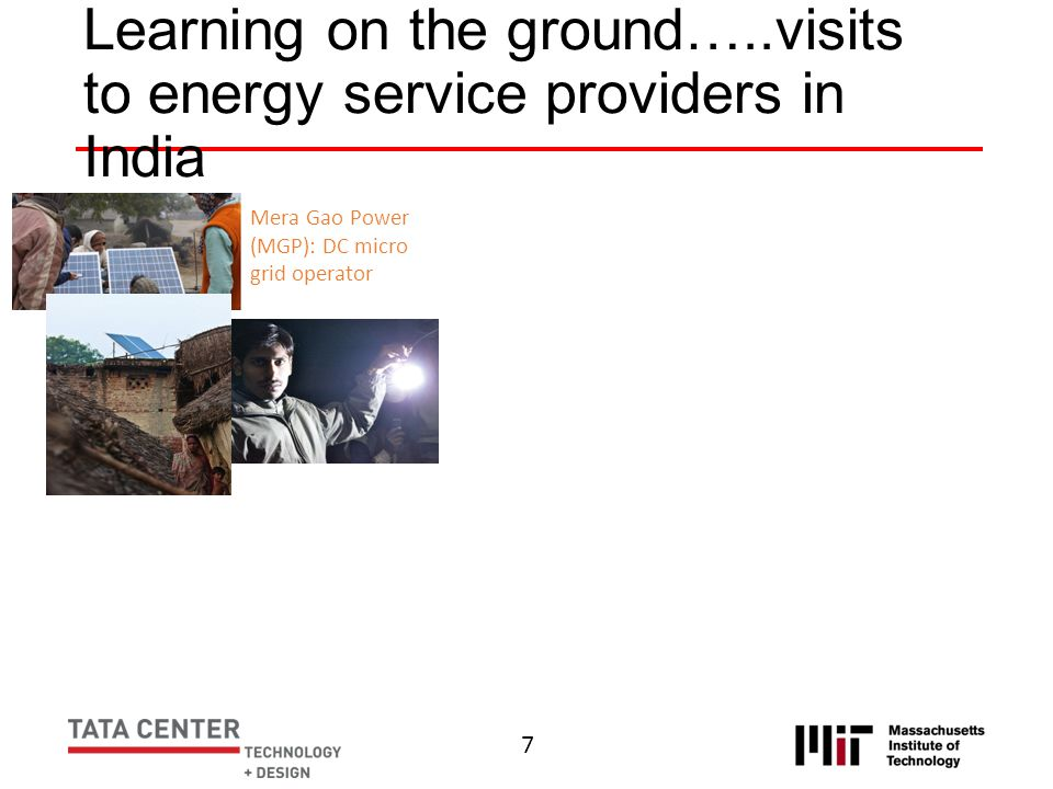 Learning on the ground…..visits to energy service providers in India