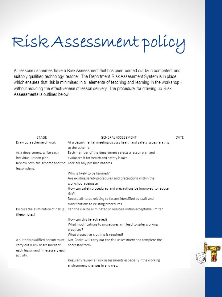 Risk Assessment policy