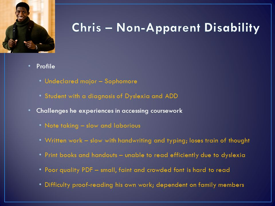 Chris – Non-Apparent Disability
