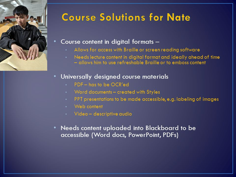 Course Solutions for Nate