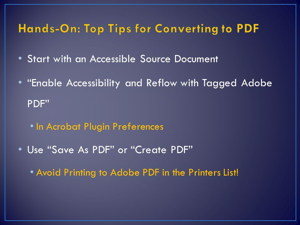 Hands-On: Top Tips for Converting to PDF