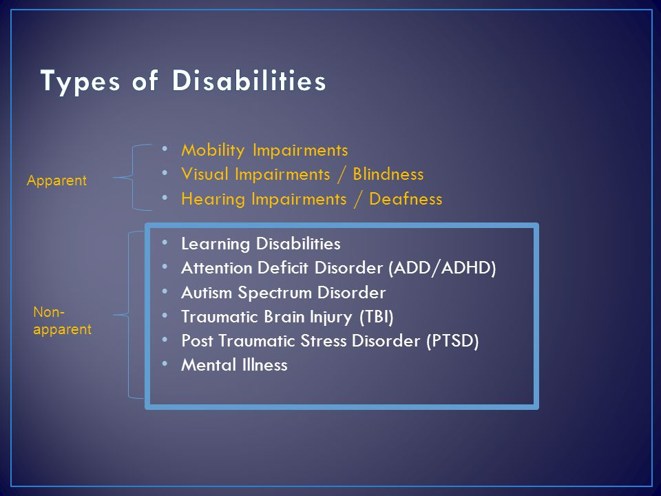 Types of Disabilities Mobility Impairments