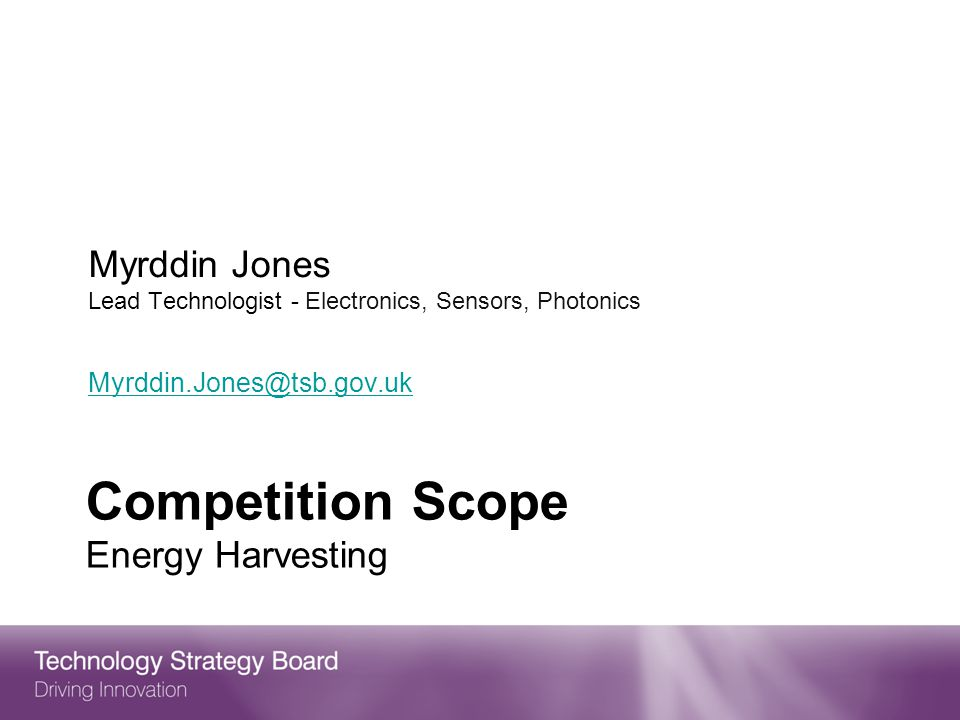 Competition Scope Energy Harvesting