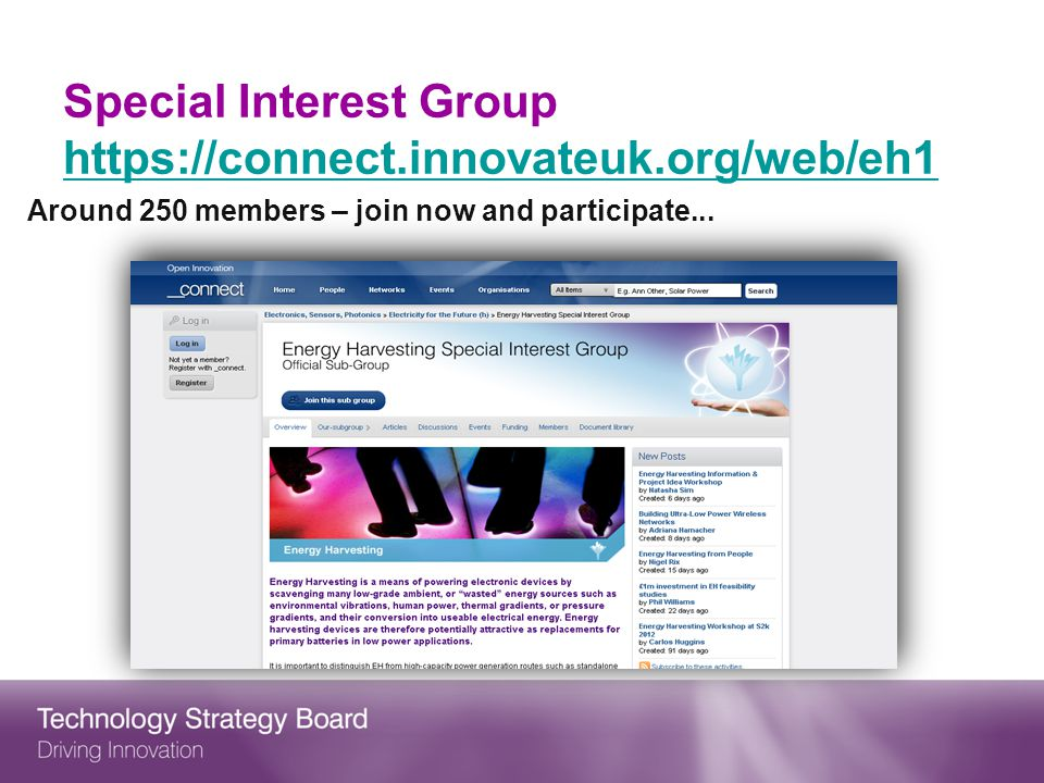 Special Interest Group https://connect.innovateuk.org/web/eh1