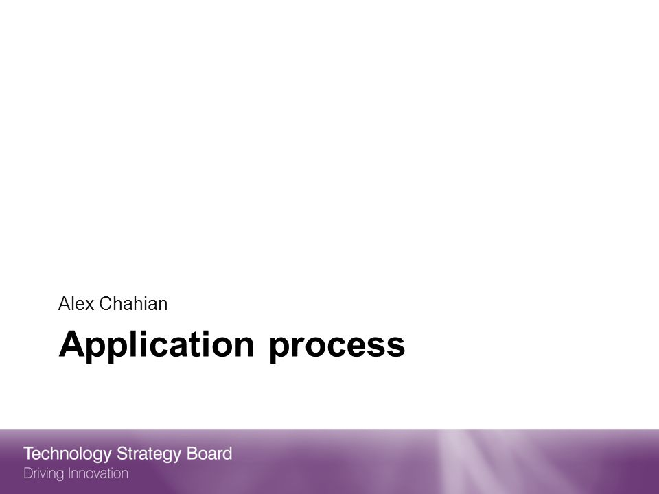 Alex Chahian Application process 28