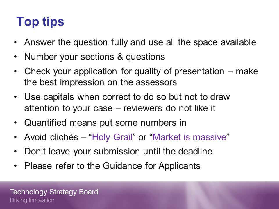 Top tips Answer the question fully and use all the space available