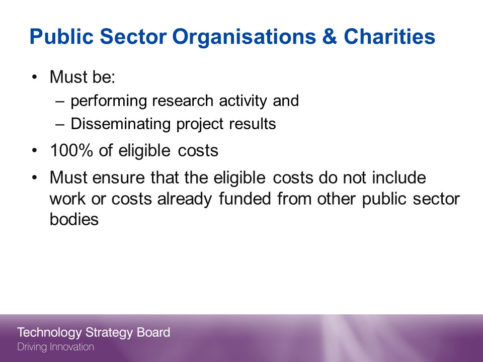 Public Sector Organisations & Charities