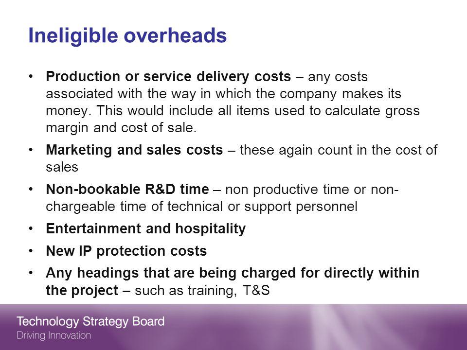Ineligible overheads