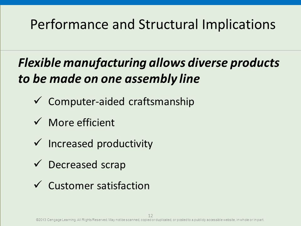 Performance and Structural Implications