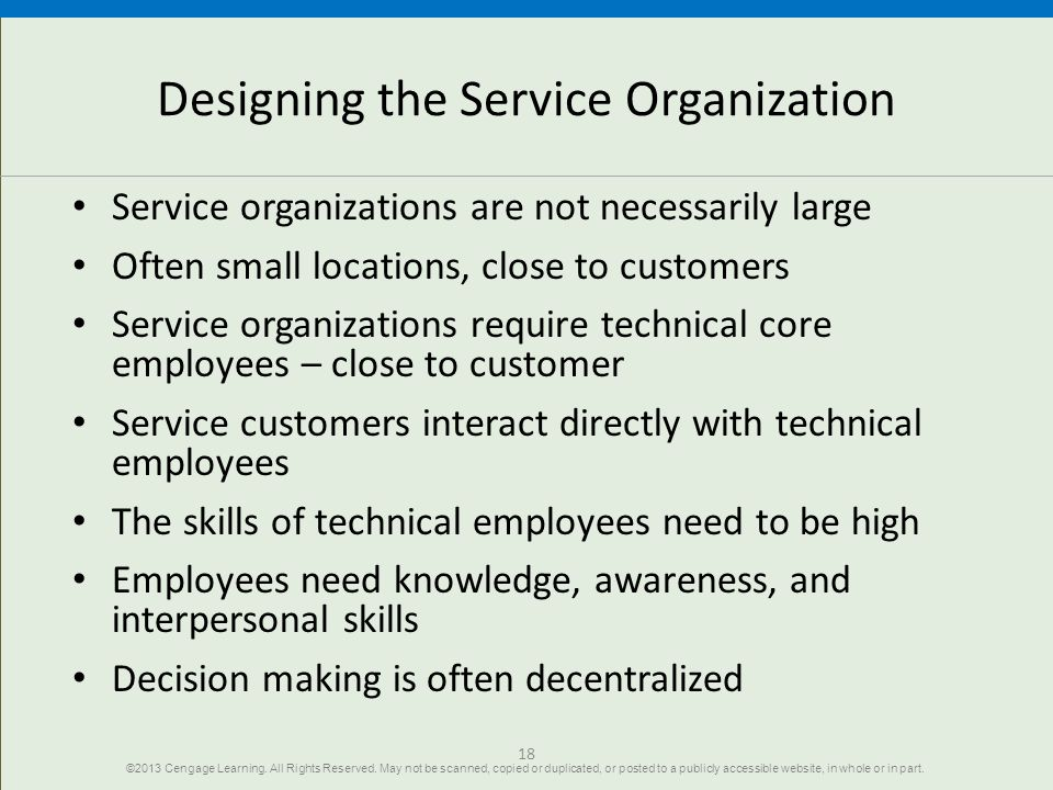 Designing the Service Organization
