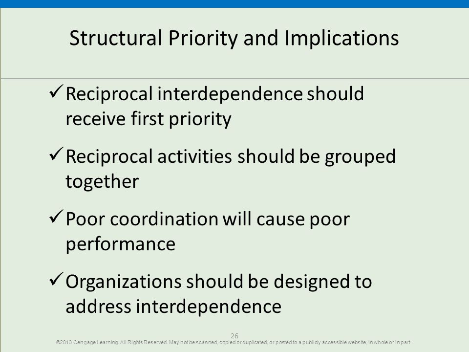 Structural Priority and Implications