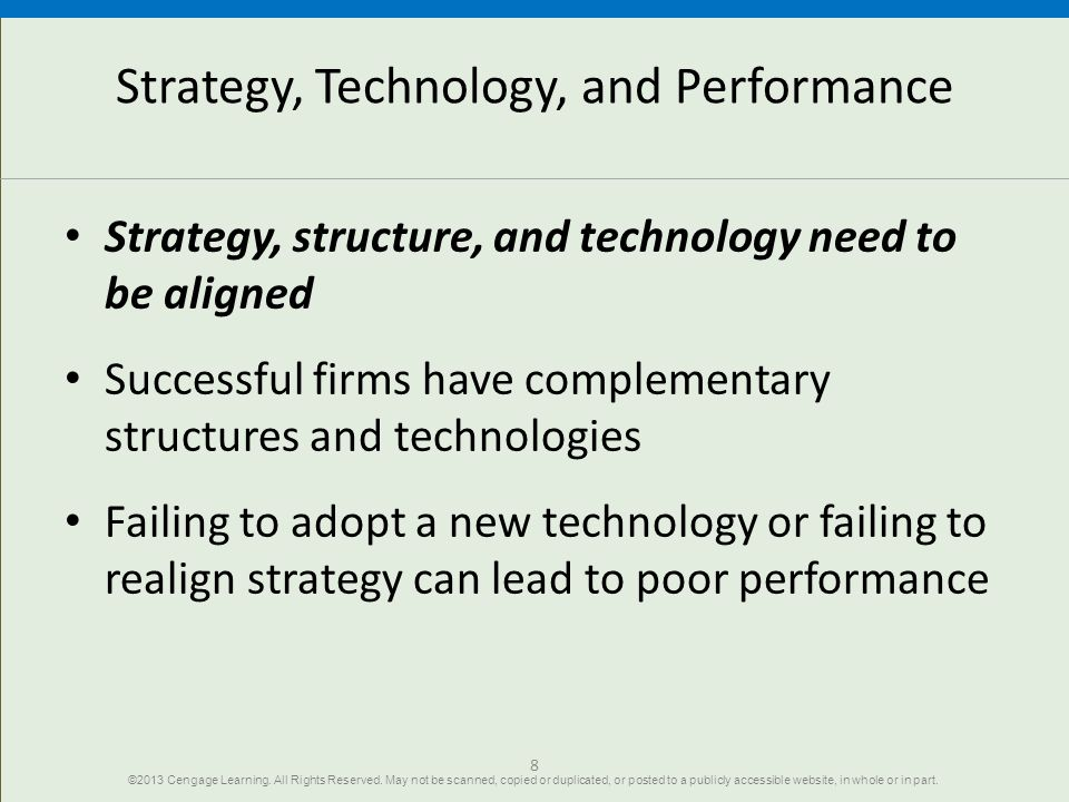 Strategy, Technology, and Performance